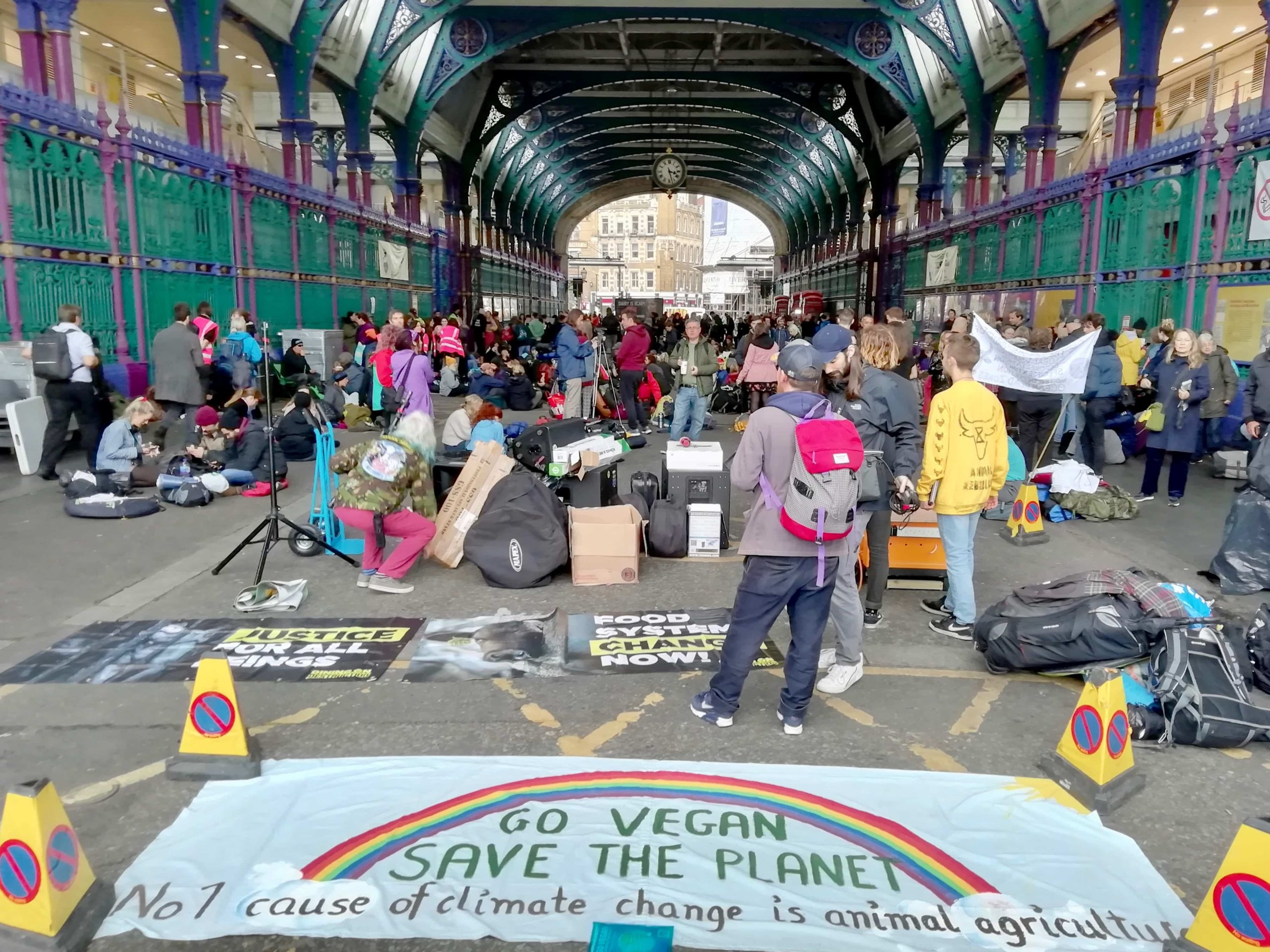 Animal Rebellion protest at Smithfield's Market, London