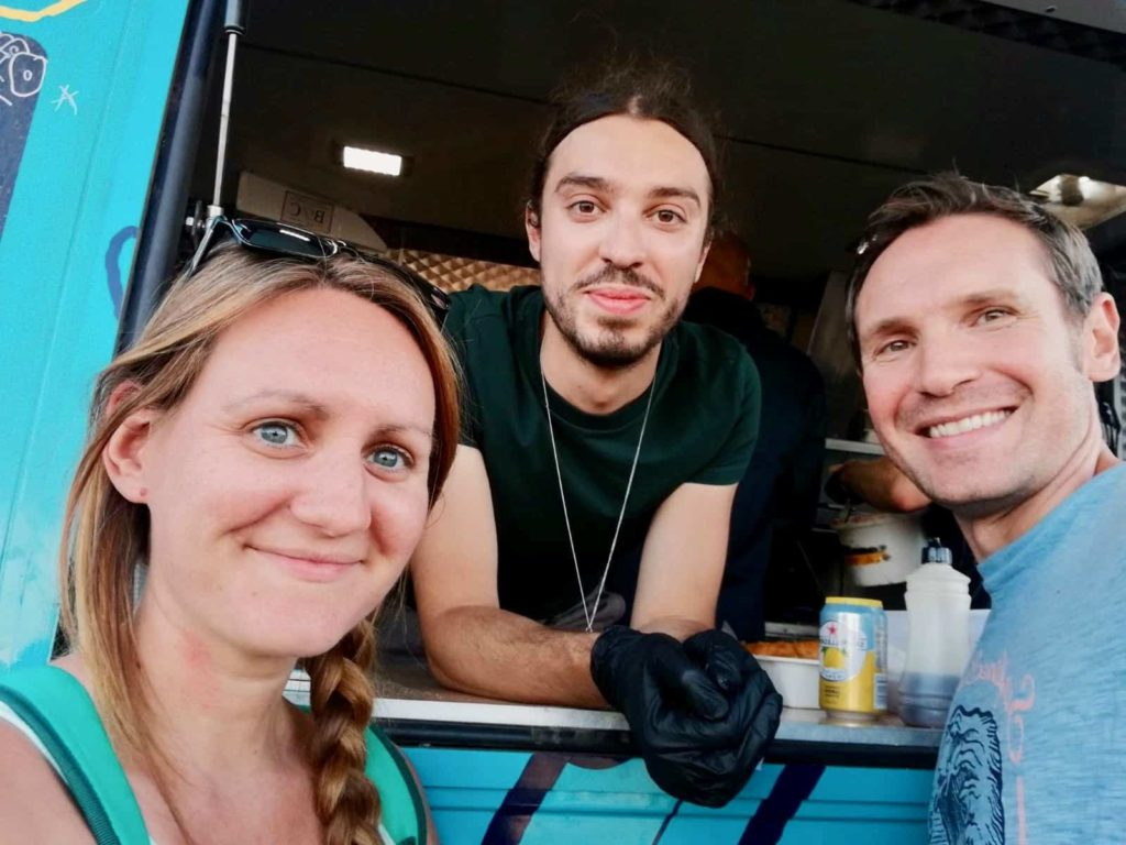 Us with Earthling Ed at the Vegan Campout 2019