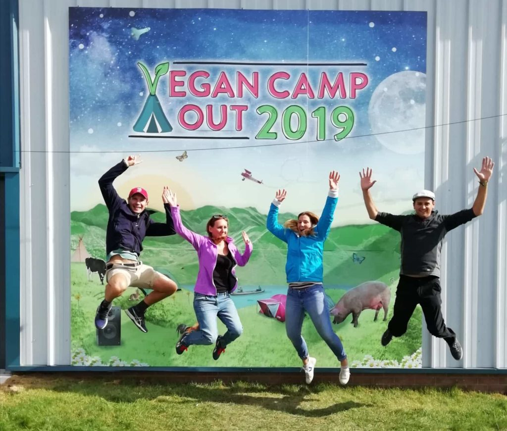 Vegan camp out UK 2019