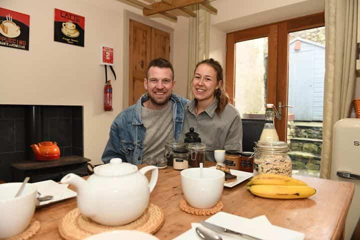 Dan and Kelsey, who own Little Sansook vegan B&B in Ulverston