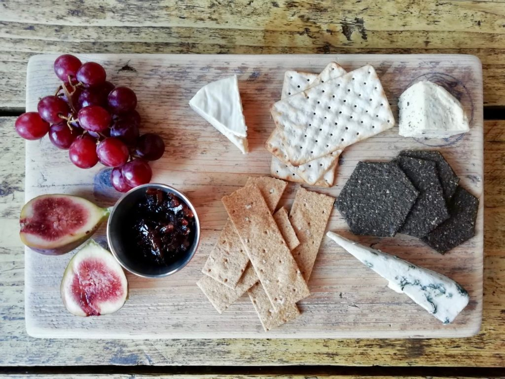 The vegan cheese board at The Spread Eagle pub in London