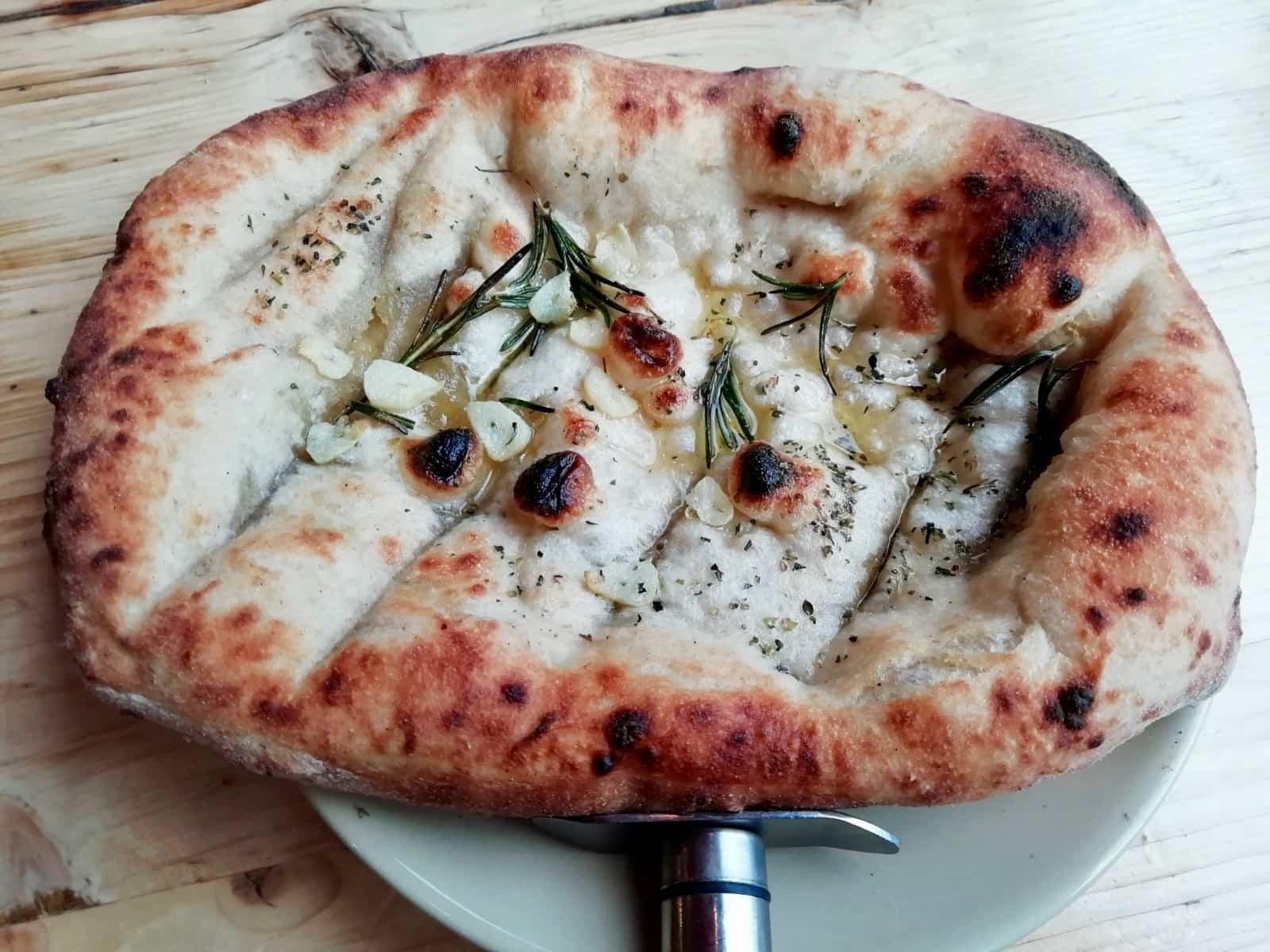 Vegan garlic bread with rosemary from Purezza, Brighton