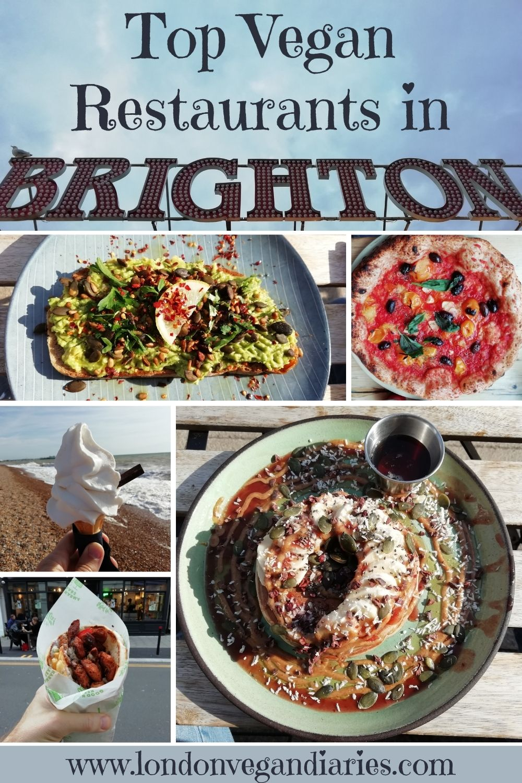 Top Vegan Restaurants in Brighton Pinterest Pin